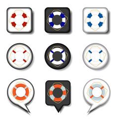 icon for set symbols sea lifebuoy vector image