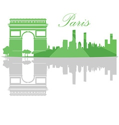 Isolated Paris skyline vector image