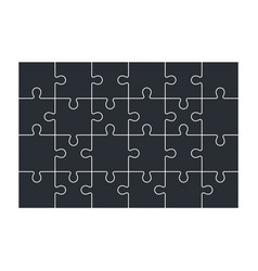 Jigsaw puzzle set of 24 pieces vector