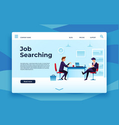 Job searching landing page we are hiring vector