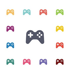 joystick flat icons set vector image