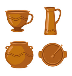 Kitchen and tableware icon vector
