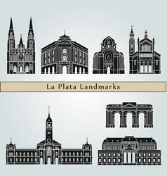 la plata landmarks vector image
