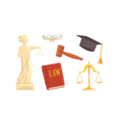 lawyer or attorney symbols and attributes vector image