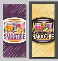 layouts for fruit smoothie vector image