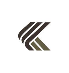 Letter k luxury logo design concept template vector