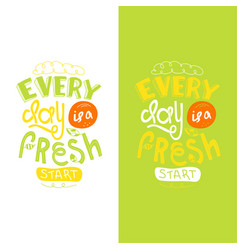 lettering quotes motivation for life and happiness vector image