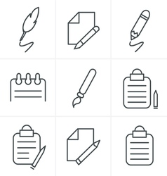 Line Icons Style Writing icons vector