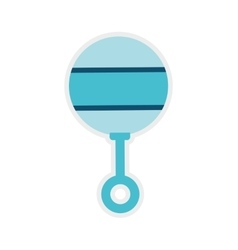 Maraca baby shower childhood icon graphic vector