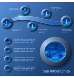 Marine infographics set vector image