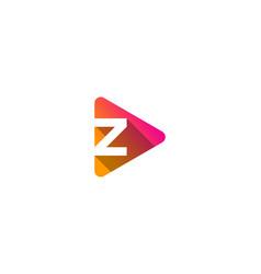 media letter z logo icon design vector image