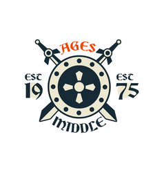 middle ages logo esc 1975 vintage badge or label vector image