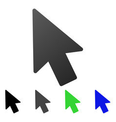 mouse pointer flat gradient icon vector image