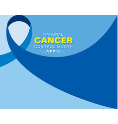 National cancer control month observed in april vector