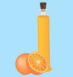 Orange essential oil aromatherapy vector