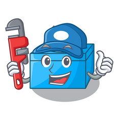 Plumber tissue box isolated on the mascot vector