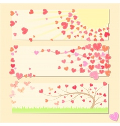 Pretty valentine cards vector image