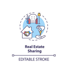 Real estate sharing concept icon vector