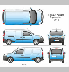 Renault kangoo express maxi cargo van 2013 vector