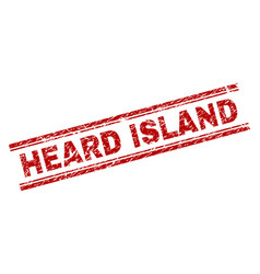 Scratched textured heard island stamp seal vector