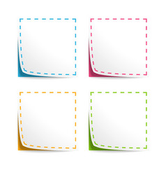 set coupons with cut lines vector image