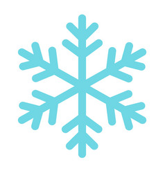 snowflake flat icon new year and christmass 10 vector image