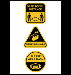 Social distancing keep safe distance in vector