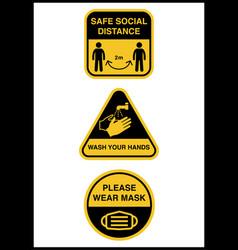 social distancing keep safe distance vector image