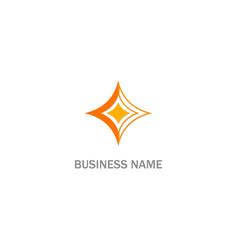 star sunbrust sign logo vector image