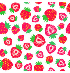 Strawberry background painted pattern vector