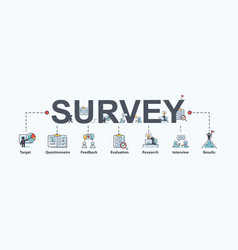 survey banner web icon for business and marketing vector image