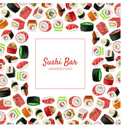 sushi bar banner template japanese seafood vector image