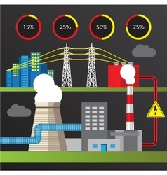 Thermal power station Trendy vector