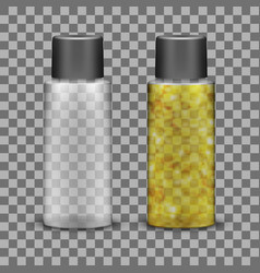 transparent plastic bottle for liquid cosmetic vector image
