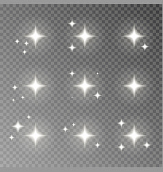 Twinkle sparkle isolated on transparent bac vector