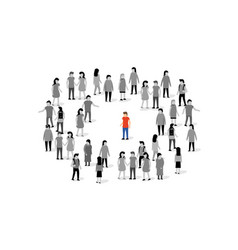 unique person in crowd concept people vector image