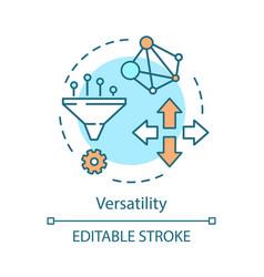 versatility advantage concept icon vector image