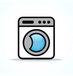 washing machine design clipart vector image