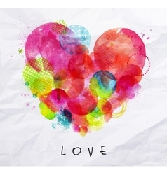 Watercolor poster love vector image vector image