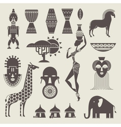 Africa icons vector image vector image