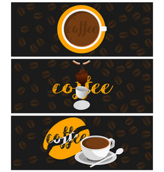 banners coffee vector image