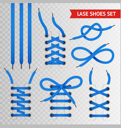 blue lace shoes icon set vector image vector image