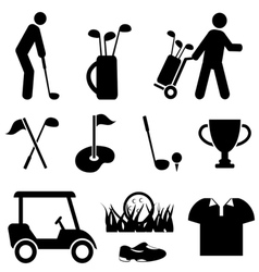 Golf and golfers vector image vector image