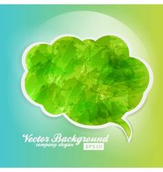 Grunge Speech Bubble Background Green vector image vector image