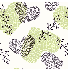 Handdrawn hearts seamless pattern vector image vector image