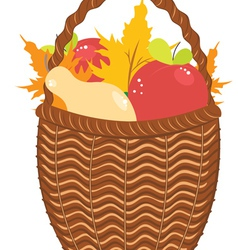 Basket of Pears and Apples2 vector image