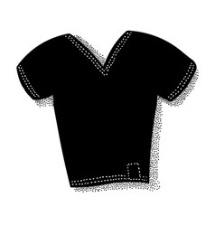 cartoon image of t-shirt icon shirt symbol vector image vector image