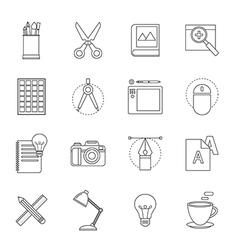 designer tool thin line icon vector image