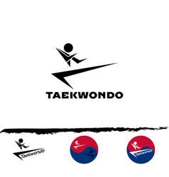 set taekwondo logo vector image vector image