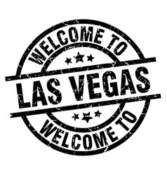 welcome to las vegas black stamp vector image vector image